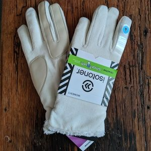 White Isotoner gloves 🧤